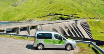 Cruachan dam and electric van
